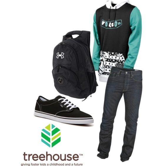 Young Men Grade 12:  Graphic Pattern Hoodie  Dark Wash Jeans  Northface Backpack  Sizes: XL, XXL,   Bottoms: 38,40,42