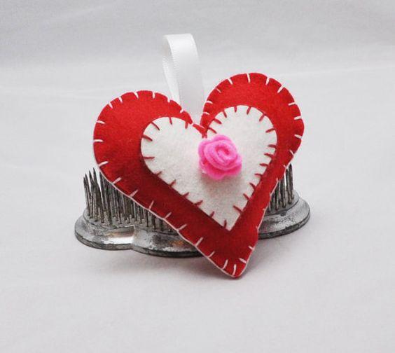 Felt Heart Pincushion