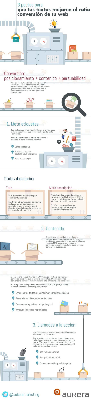 #Infografia #CommunityManager Cómo conseguir que tus contenidos mejoren el ratio de conversión. #TAVnews
