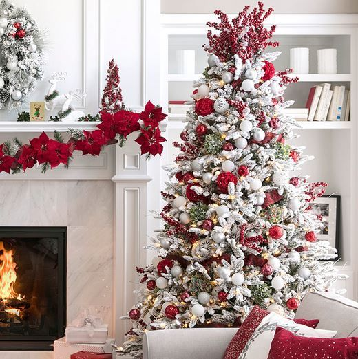 Christmas Tree Clearance On Amazon Free Shipping Add To Cart For More Opti White Christmas Tree Decorations Christmas Tree Decorations Frosted Christmas Tree