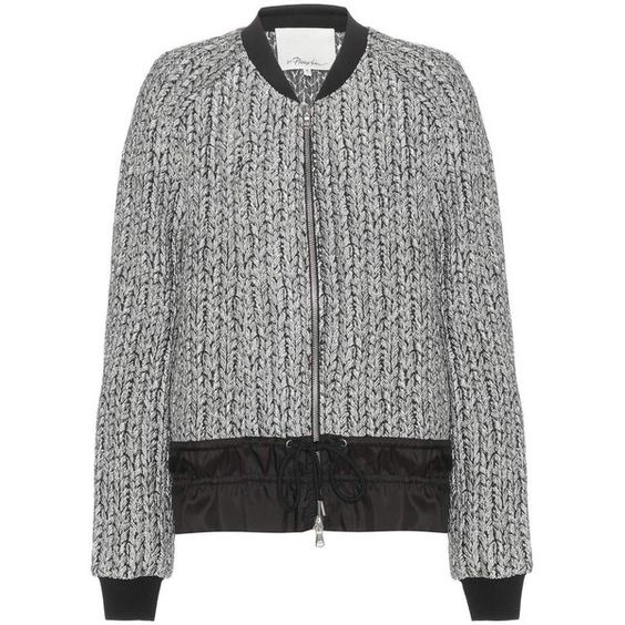 3.1 Phillip Lim Jacquard Jacket (562 AUD) ❤ liked on Polyvore featuring outerwear, jackets, silver, 3.1 phillip lim, jacquard jackets and 3.1 phillip lim jacket
