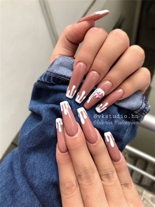 Beautiful Awesome Acrylic Coffin Nails Designs In Summer