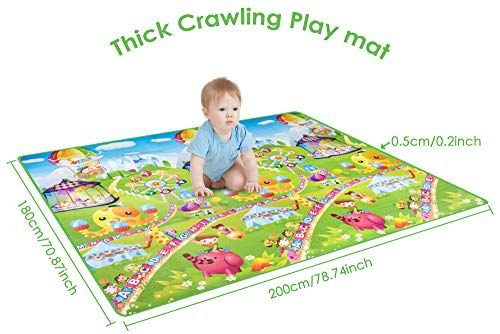 Baby Children Kids Toddler Crawl Mat Soft Carpet Floor Play Activity Picnic Pad