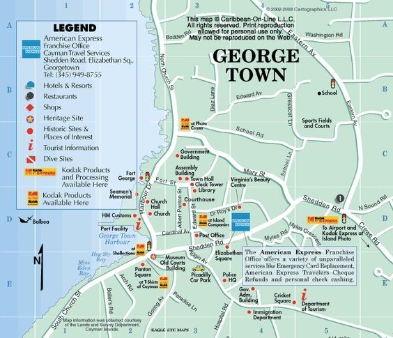 10 Map of George Town Grand Cayman Ready to have a great time