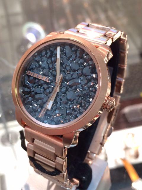 Diesel DZ5427 Ladies Flare Rose Gold Stainless-Steel watch #Diesel #Watches #wristwatch