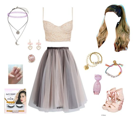 """""""Sweet"""" by jaqueboobear ❤ liked on Polyvore featuring beauty, Chicwish, Disney Couture, Topshop, H&M, Venessa Arizaga, Miso, Amour and eylure"""