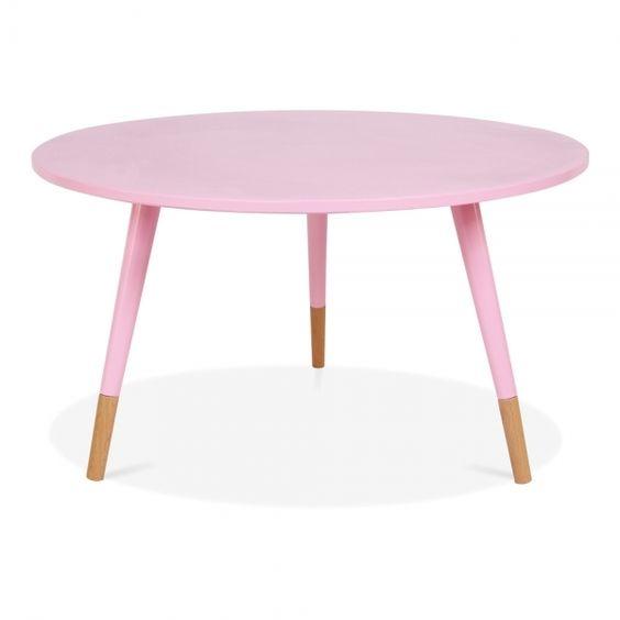 Cult Living Pink 42cm Pop Side Table in Solid Wood | Cult Furniture UK