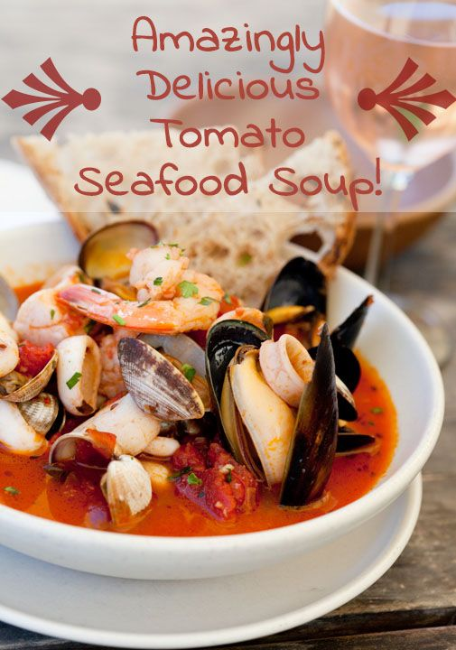 Amazingly Delicious Tomato Seafood Soup - Get everything you need for these recipes and more... @ http://nassaustreetseafood.com/ & http://www.facebook.com/NassauStreetSeafood