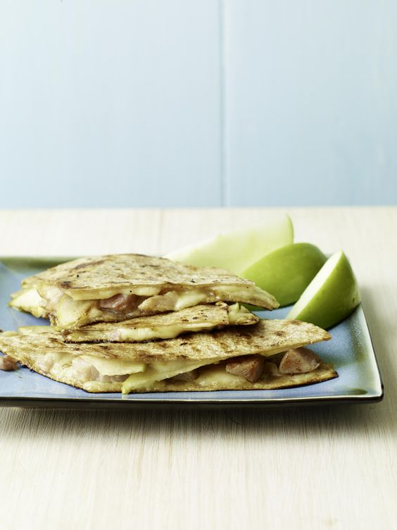 Ham, Swiss, and Apple Quesadillas #backtoschool
