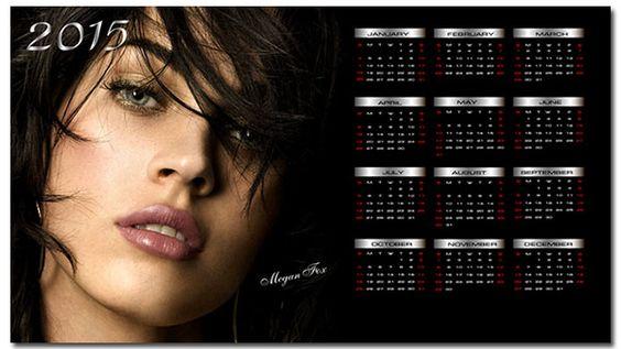 Wallpaper con calendar Megan Fox