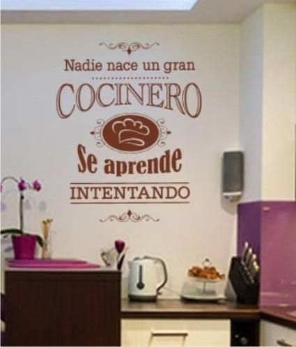 Vinilo decorativo frases cocina empapelado pared - Vinilo muebles cocina ...