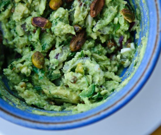 Guacamole with Pistachios | Healthy Green Kitchen