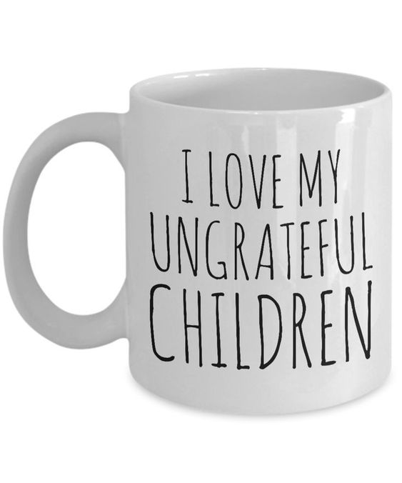 Funny Mom Gifts Mother's Day Gift for Mom Mug - I Love My Ungrateful Children Mug Ceramic Coffee Cup