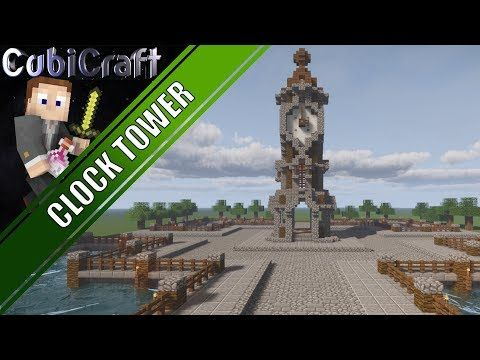 Youtube Clock Tower Minecraft Medieval Minecraft Clock