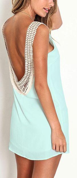 Vanessa Backless Dress - Mint Green