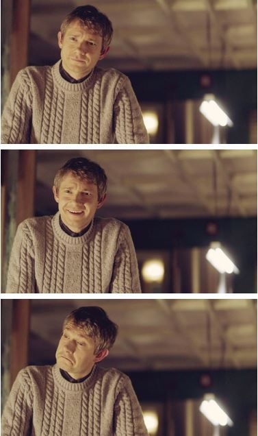 John Watson, so adorable <3 And apparently (I've not seen this episode yet) he's actually pretty angry in this scene. o_o