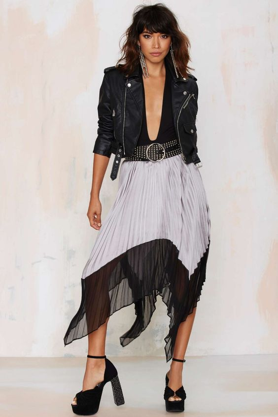 According to Me Asymmetric Pleated Skirt | Shop Clothes at Nasty Gal!