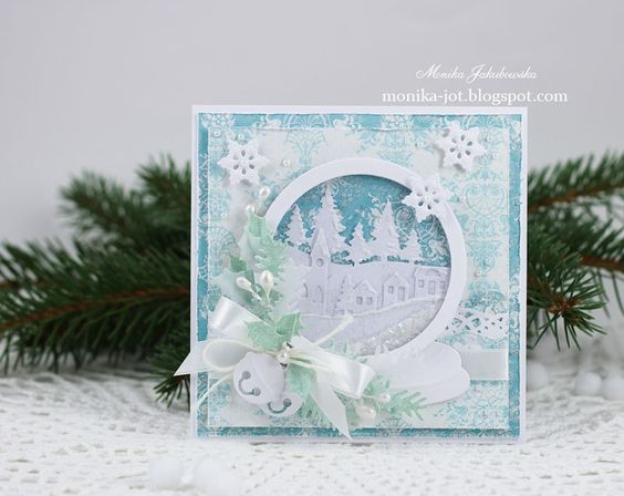 Новый год на Sees-All-Colors: Скрап открытки Monika Jakubowska