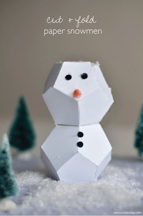Snowman, Paper and Origami