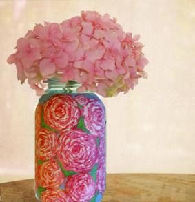 Hand Painted Mason Jars  Custom Painted by CarolinesCustomCraft, $12.00