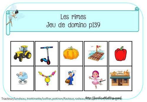 Vers La Phono Ms La Rime Jeux De Vocabulaire La Maternelle De