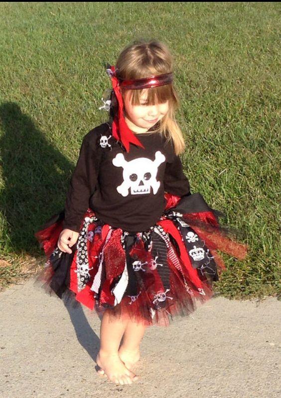 Girl pirate costume extra full Pirate Princess Tutu by LilNicks