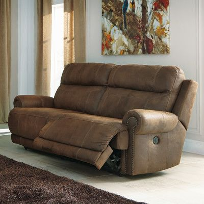 Signature Design by Ashley Austere 2 Seat Reclining Sofa & Reviews | Wayfair