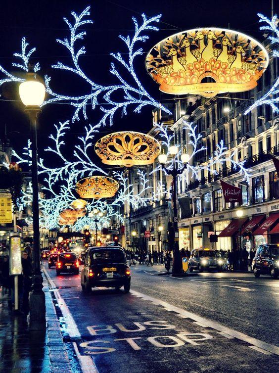 Рождественское освещение Риджент стрит, Лондон