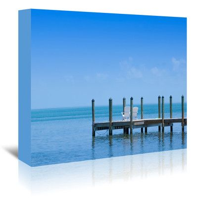 East Urban Home Florida Keys Quiet Place Panoramic View Photographic Print on Wrapped Canvas Size: