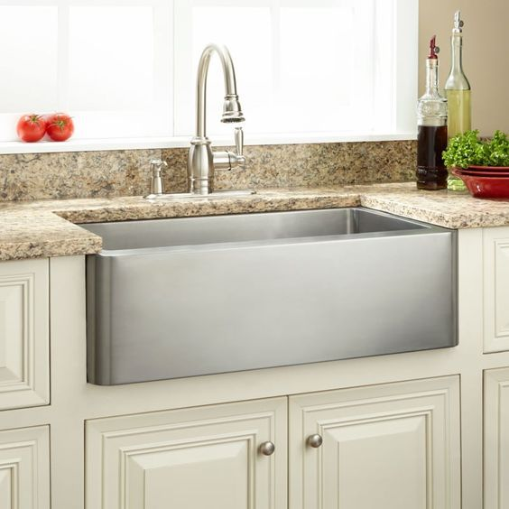 Signature Hardware 927362 30 Hazelton 30 Single Basin Stainless Steel Farmhouse Stainles Farmhouse Sink Kitchen Stainless Steel Farmhouse Sink Kitchen Remodel