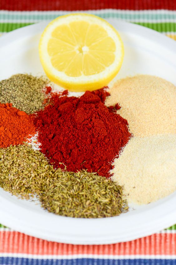This yummy, spicy Cajun Blackening Seasoning Recipe is a healthy, no (or low) sodium, spice blend mix that will save you money over prepackaged store-bought seasoning mix blends. ~ http://FlavorMosaic.com