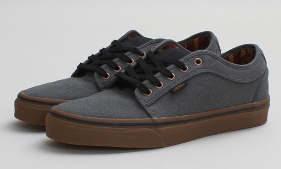vans chukka low black canvas & gum shoe