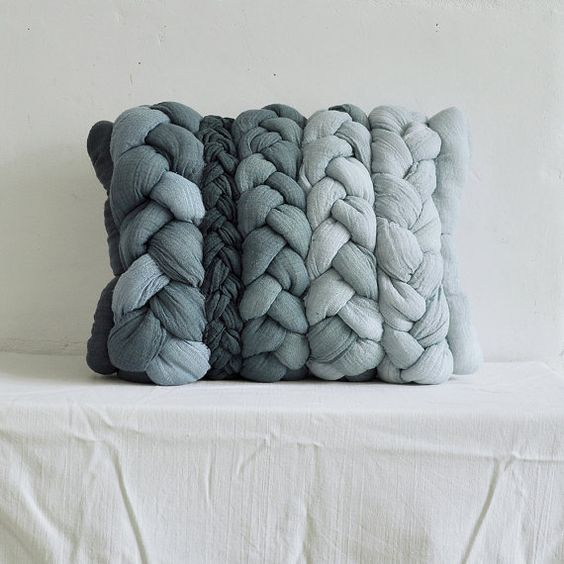 Handmade and hand-dyed in Poland, these pillowcases would make an interesting feature on a couch, in a hammock, or on the floor. #DeborahBeau: