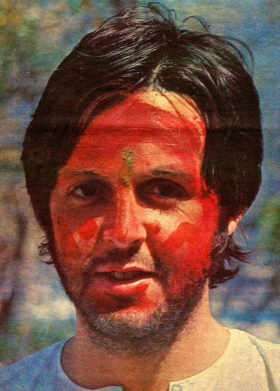 Seems Paul enjoyed the Holi Festival..: