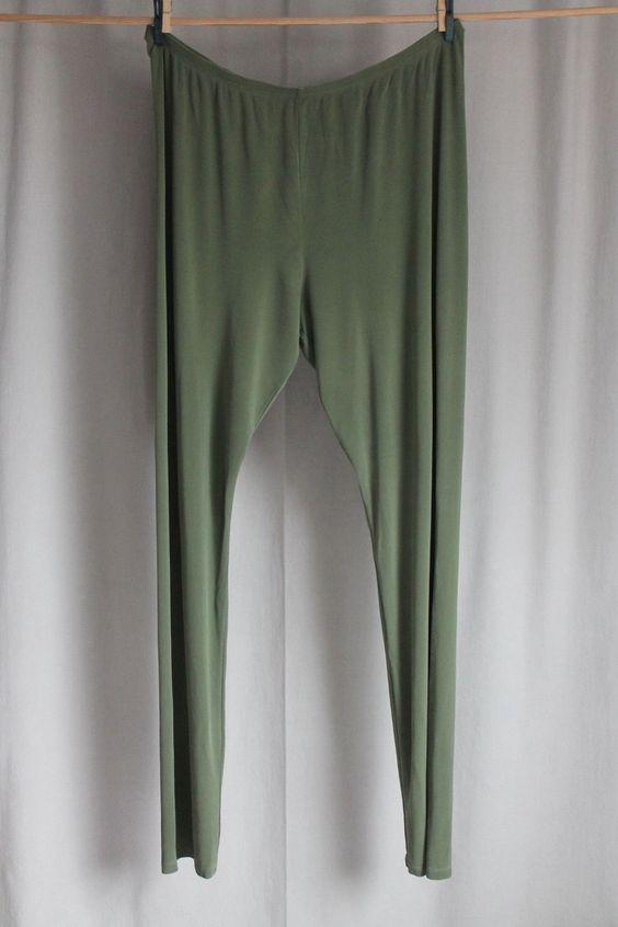 cocon.commerz PRIVATSACHEN Leggings aus Seide in grün Größe 3   eBay