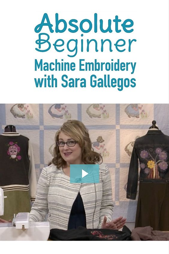 Interested in machine embroidery but aren't sure where to begin? In this first episode of Absolute Beginner Machine Embroidery: Embroidery Machines, find out what to look for in an embroidery machine and different features that might be important for the kinds of embroidery you want to do!