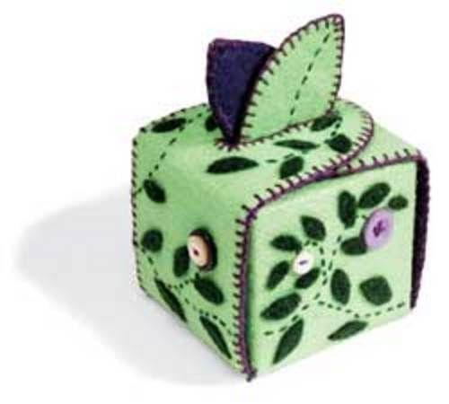 felt-box - leaf top: