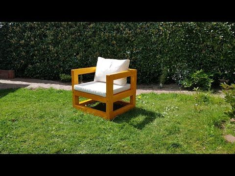 Diy Modern Outdoor Chair Gartenstuhl Selber Bauen Youtube In 2020 Lounge Sessel Garten Gartenstuhle Sessel Holz