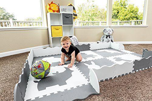 Non Toxic Baby Play Mat Neutral Nursery
