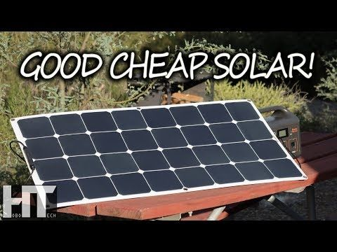 A Quality Flexible Solar Panel On A Budget 100 Watt Bouge Rv Portable Panel Review Youtube Solar Panels Flexible Solar Panels Solar