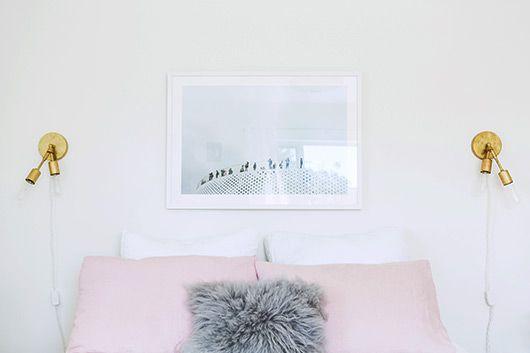 designlovefest | a bedroom makeover. cedar and moss wall sconces