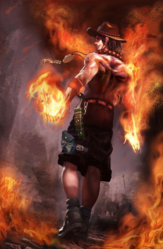 炎を扱うエース