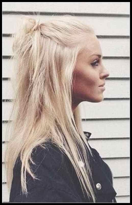 Trendy Half Bun Frisuren Fur Damen Modekleid Com Trend Frisuren Frisuren Tutorials Frisuren Hubsche Frisuren Lassige Hochsteckfrisuren