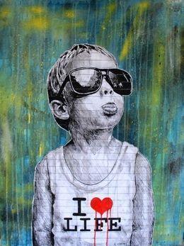 Autor: STMTSI  imagen vcreada Love Life, 2012, by STMTS acrilico espray sobre tela