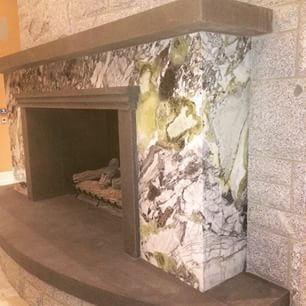 """""""White Beauty"""" marble fireplace"""