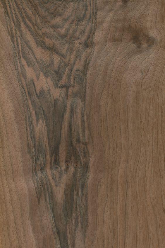 Nussbaum europäisch | Furnier: Holzart, Nussbaum, Blatt, braun, dunkel, #Holzarten #Furniere #Holz