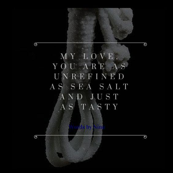 Sometimes your pallet craves something salty. #seasalt #love #darklove #poems #poetry #instagram
