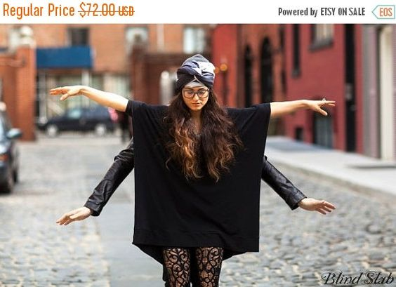 SALE 20% BABOOSHKA Oversized Asymmetrical T-Shirt Dress (colors) Party Dress
