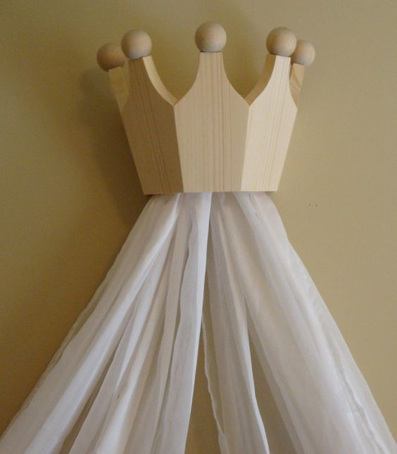 Pine Bed Crown / Valance / Canopy for Nursery by decarlo on Etsy, $70.00.  Very nice!!!