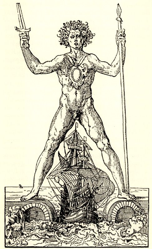 Colosse De Rhodes Thevet Andre 1556 The Colossus Of Rhodes